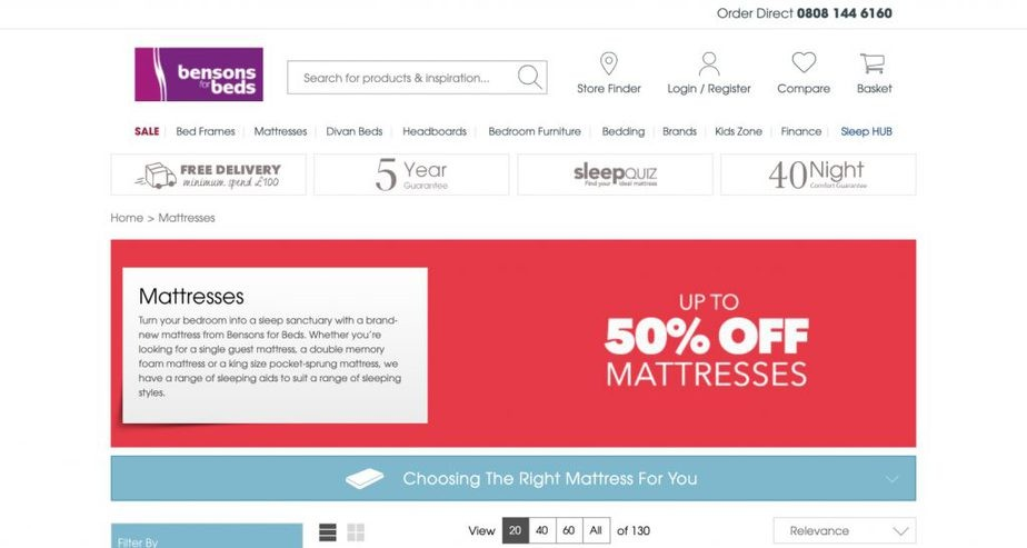 bensons for beds place to buy mattress online