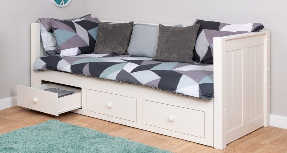 single day bed with storage