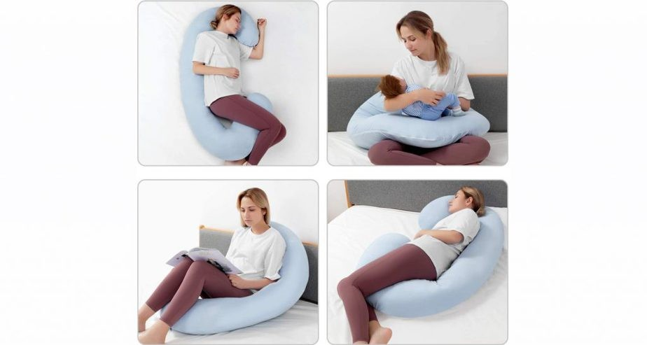 HBselect Full Body Maternity Pillow 63ft & C Shaped Pregnancy Pillow