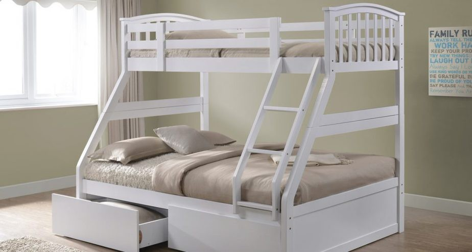 The Naples Bed Company Three Sleeper Bunk Bed