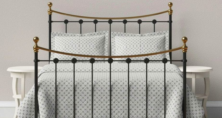 wrought iron emily bed